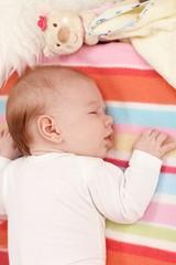 Baby sleeping on front