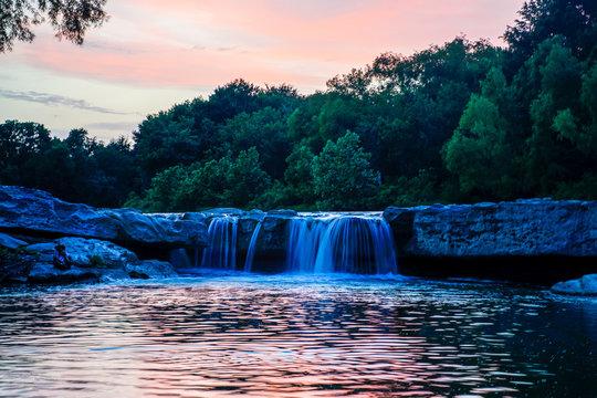 Onion Creek running through McKinney Falls in Austin, Texas.