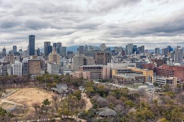 Fototapete - Osaka city in daytime