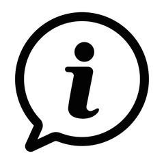 Obraz information sign icon, information icon in trendy flat design - fototapety do salonu