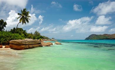 Baie Sainte Anne in Seychelles. Praslin Island