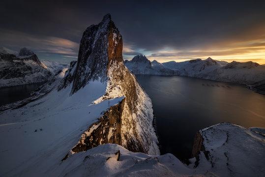 Segla winter sunset
