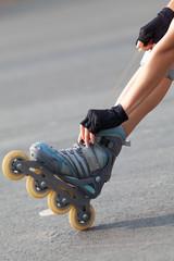 leg of Roller skater