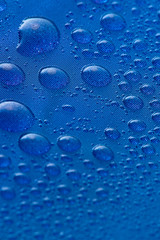 Abstract blue bubbles