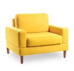Fototapeta Modern comfortable armchair on white background obraz