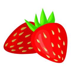 Vector illustrations of cartoon strawberry icon