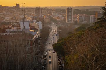 Sunset at Las Vistillas (Madrid, Spain)