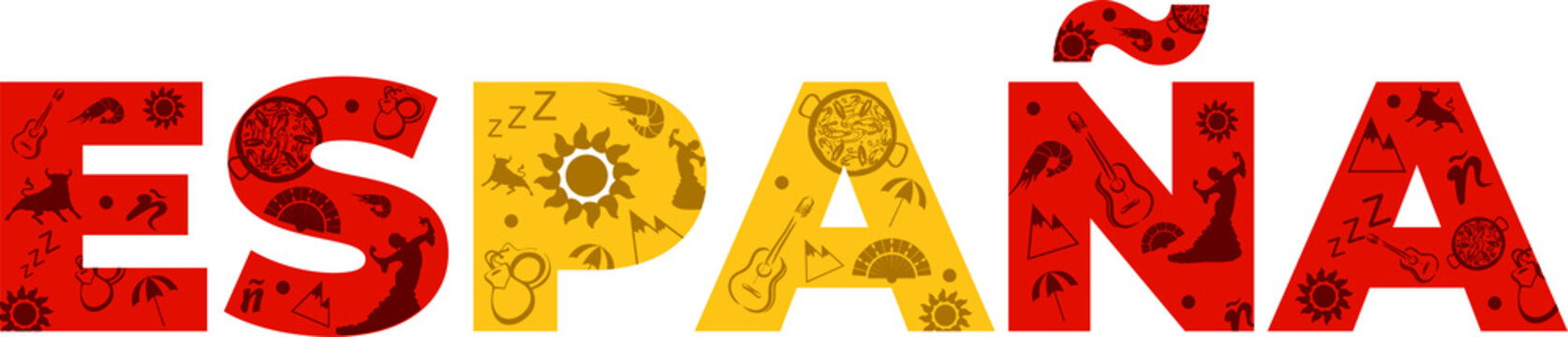 Diseño letras España. Cosas típicas
