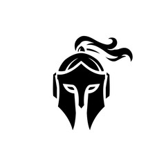 simple unique Spartan logo sparta logo spartan helmet logo vector