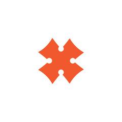 Initial letter x logo vector design template