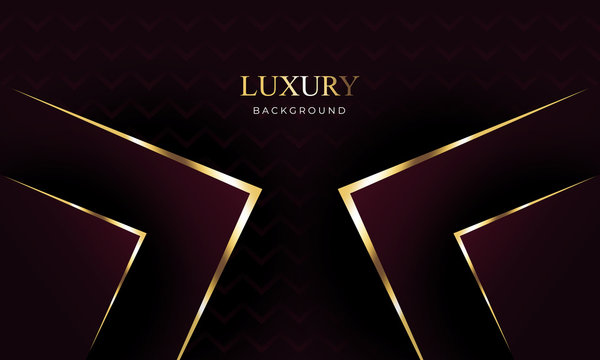 Abstract luxury background. black , gold and maroon color gradient style. High quality resolution , Vector illustration.