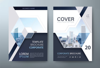 Annual report brochure flyer design, Leaflet presentation, book cover templates, layout in A4 size. vector.