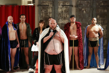 A model speaks about why the show is important after presenting a creation from the first Ryan's Secret men's underwear collection during New York Fashion Week