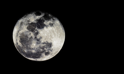 Full moon texture /  It is the fifth-largest satellite in the Solar System, and by far the largest among planetary satellites relative to the size of the planet that it orbits. Wall mural