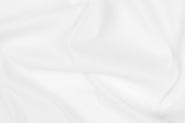Stores à enrouleur Tissu Abstract white fabric texture background. Cloth soft wave. Creases of satin, silk, and cotton.
