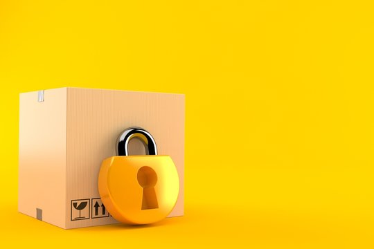 Package with padlock