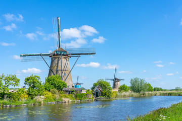 Kinderdijk Village in the municipality of Molenlanden, in the province of South Holland, Netherlands
