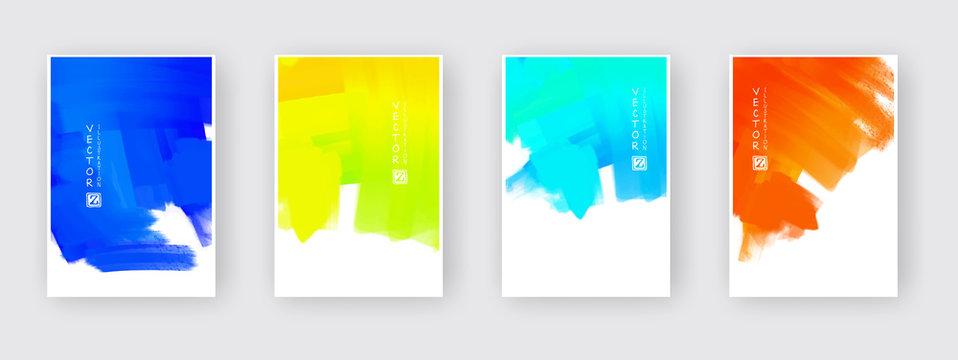 Vector design elements template for business brochure.