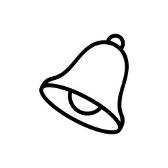 Notice the bell icon vector. Thin line sign. Isolated contour symbol illustration