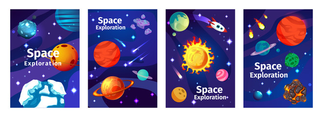 Space Exploration Game Cards