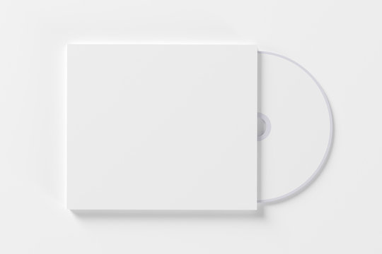 Blank compact disk isolated on white