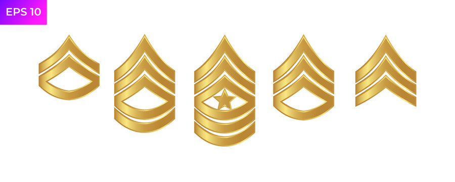 Military Rank Badge Emblem icon template color editable. Epaulettes army symbol logo vector sign isolated on white background illustration for graphic and web design.