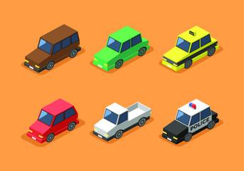 Isometric Car Clip Art Vector Premium