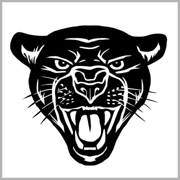 Panther head - vector illustration isolated on white