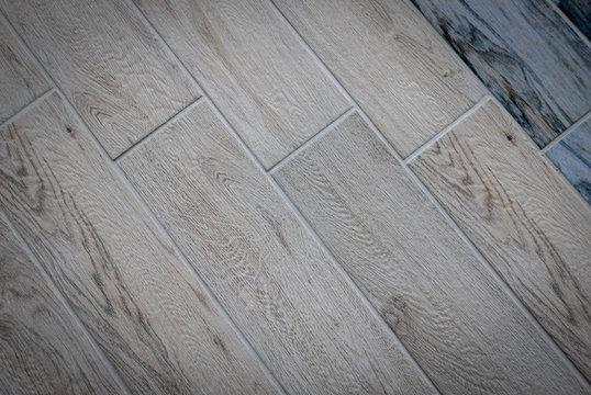 Ceramic tiles flooring - texture of natural ceramic floor decorating as wood