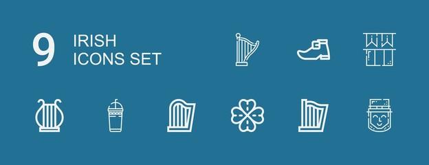 Editable 9 irish icons for web and mobile