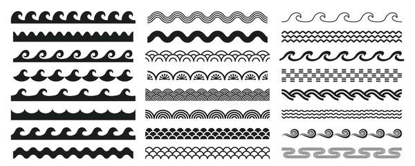Photo sur Plexiglas Abstract wave 様々な形状の波セット