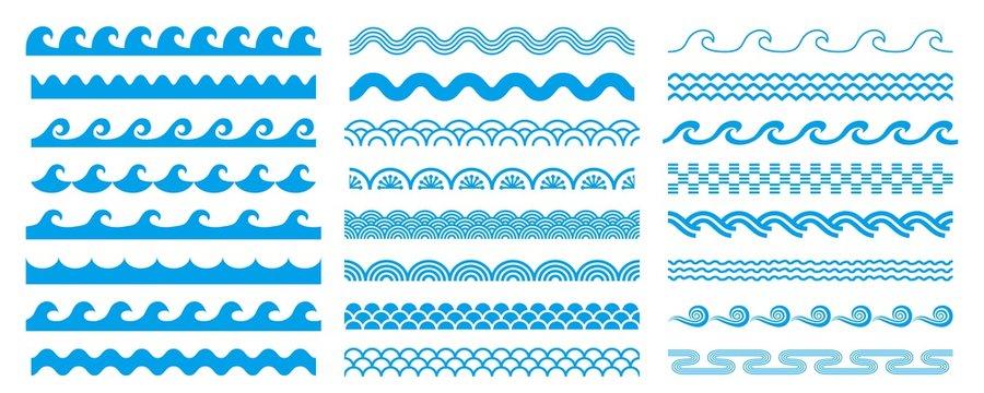様々な形状の波セット