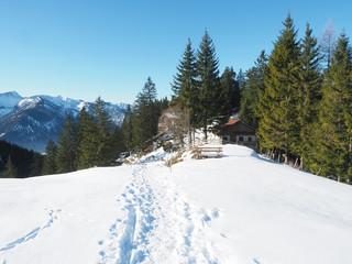 Winter in den Bayerischen Voralpen (Fischbachau)