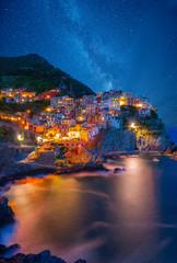Foto auf Gartenposter Ligurien Famous city of Manarola in Italy - Cinque Terre, Liguria