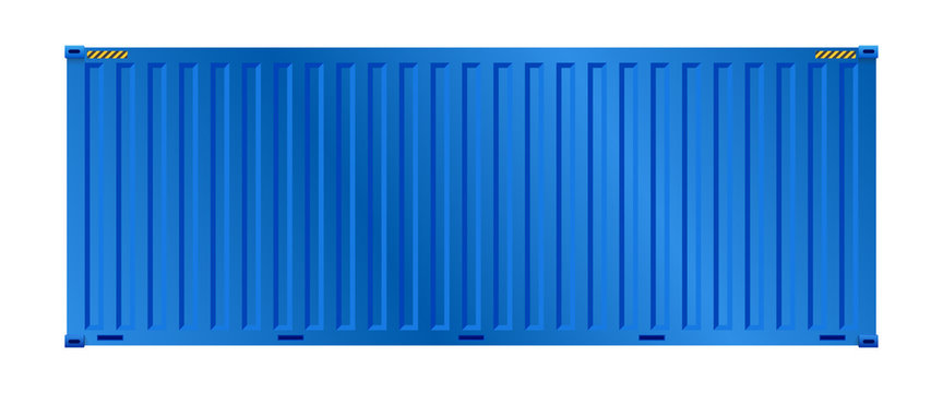 Cargo container vector design on white background for shipping work.