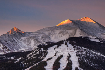 Colorado Scenic Beauty - Sunrise in Breckenridge, Colorado.