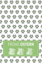 Frohe Ostern Pattern 2