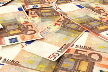 Stack of euro money