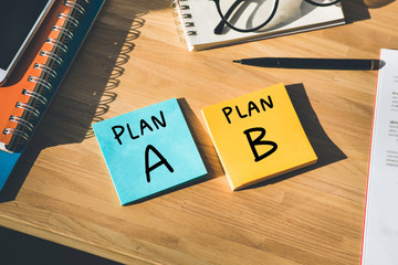 Business plan and direction to success concepts