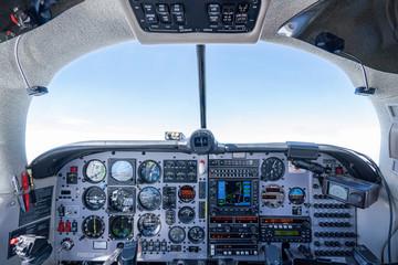 Cockpit Mooney Flugzeug Fototapete