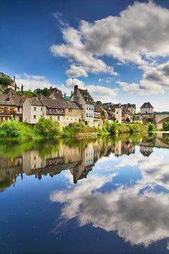 The Dordogne River Floating through Argentat, France