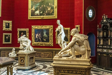 The Tribune room in Uffizi Gallery in Florence, Italy