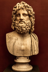 Head of Zeus statue from Uffizi Gallery in Florence, Italy