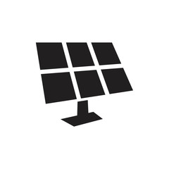 Solar panels technology, black and white icon template black color editable. Solar panels technology, black and white icon symbol Flat vector illustration for graphic and web design.