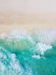 Cancun beach and coast top view, Cancun, Quintana Roo QR, Mexico.