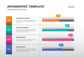 Infographic Table Layout with Colorful Gantt Chart