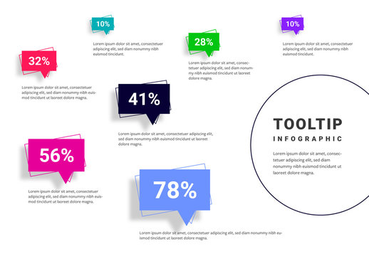 Infographic Layout with Colorful Call-Out Elements