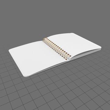 Open spiral notebook 3