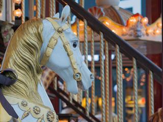 head of carousel horse