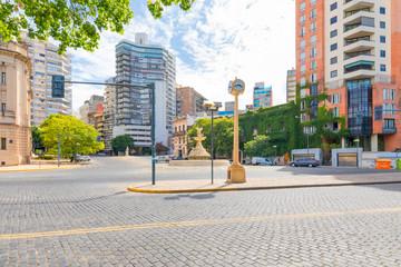 Papiers peints Amérique du Sud Argentina Rosario entrance to the historic center from Sargento Cabral street